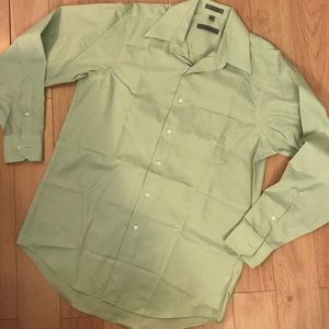 Geoffrey Beene Sage Green Dress Shirt,M